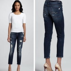 7 For All Mankind Crop Josefina Skinny Boyfriend